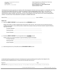 "DWS-UI Form 682 ""Direct Deposit or Utah Debit Card Authorization Form"" - Utah (English/Spanish)"