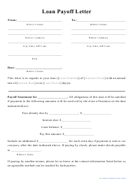 """Loan Payoff Letter Template"""
