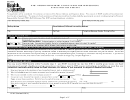 "Form DFA-2 ""Application for Benefits"" - West Virginia"