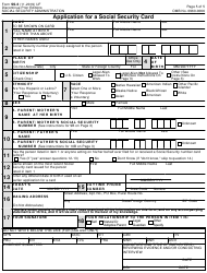 "Form SS-5 ""Application for a Social Security Card"", Page 5"