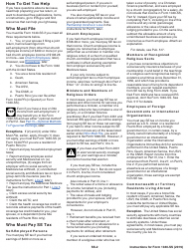 "Instructions for IRS Form 1040-SS ""U.S. Self-employment Tax Return (Including the Additional Child Tax Credit for Bona Fide Residents of Puerto Rico)"", Page 2"