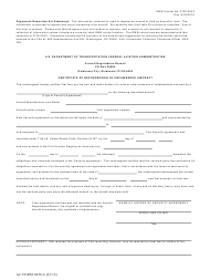 "AC Form 8050-1 ""Certificate of Repossession of Encumbered Aircraft"""