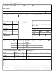 """Occupational Therapy Evaluation Template"""
