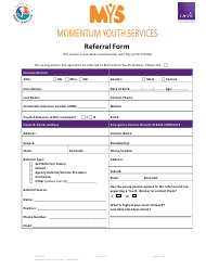 """Referral Form - Momentum Youth Services"""