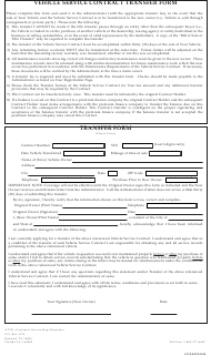 """Vehicle Service Contract Transfer Form - Warrantech"""