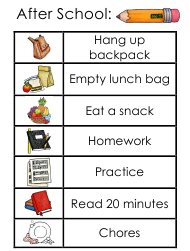 """After School Chore Chart for Kids"""