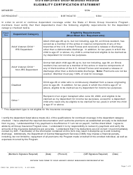 "Form CMS-138 (IL401-0825) ""Eligibility Certification Statement"" - Illinois"
