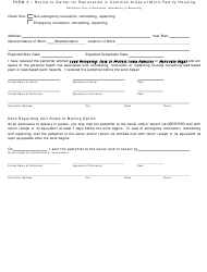 "Form 3 ""Notice to Owner for Renovation in Common Areas of Multi-Family Housing"" - Iowa"