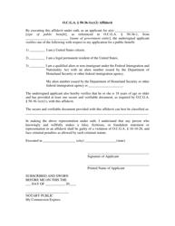 """""""O.c.c.a 50-36-1(E)(2) Affidavit"""" - Georgia (United States)"""