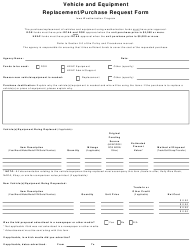 """Vehicle and Equipment Replacement/Purchase Request Form"" - Iowa"