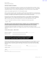 "DWC Form 3 ""Fee Disclosure Statement"" - California"