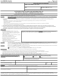 """Form SSA-827 """"Authorization to Disclose Information to the Social Security Administration (Ssa)"""""""