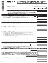 "Form NYC-2.2 ""Subtraction Modification for Qualified Banks and Other Qualified Lenders"" - New York City"