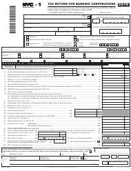 "Form NYC-1 ""Tax Return for Banking Corporations"" - New York City, 2019"