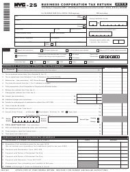 """Form NYC-2S """"Business Corporation Tax Return - Short Form"""" - New York City, 2019"""