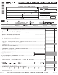 "Form NYC-2 ""Business Corporation Tax Return"" - New York City, 2019"