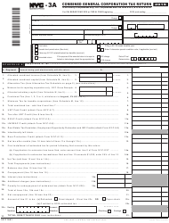 """Form NYC-3A """"Combined General Corporation Tax Return"""" - New York City"""