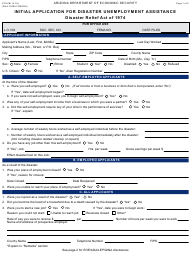 """Form ETA-081 """"Initial Application for Disaster Unemployment Assistance"""" - Arizona"""