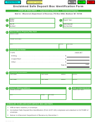"Form UCP-120 ""Unclaimed Safe Deposit Box Identification Form"" - Wisconsin"