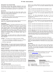 "Sample Form TT-100 ""Wisconsin Distributor's Tobacco and Vapor Products Tax Return"" - Wisconsin"