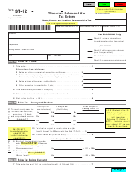 """Form ST-12 """"Wisconsin Sales and Use Tax Return"""" - Wisconsin"""
