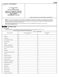 "Form F-65 ""U.S. Census Bureau Annual Financial Report"" - Wisconsin, 2020"