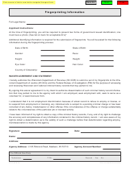 "Form ES-154 ""Fingerprinting Information"" - Wisconsin"
