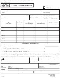 "VT Form RCT-331 ""Railroad Company Tax Return"" - Vermont"