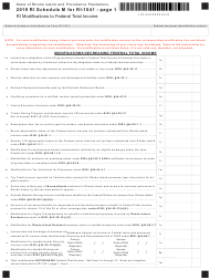 "Form RI-1041 Schedule M ""Ri'(modifications to Federal Total Income"" - Rhode Island, 2019"