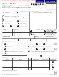 "Form OR-40-N (150-101-048) ""Oregon Individual Income Tax Return for Nonresidents"" - Oregon, 2019"