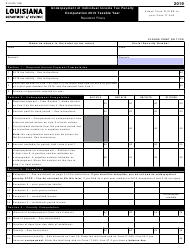 "Form R-210R ""Underpayment of Individual Income Tax Penalty Computation"" - Louisiana, 2019"