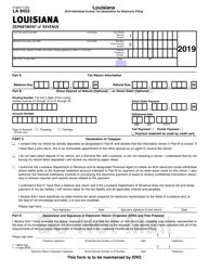 "Form R-8453 ""Louisiana Individual Income Tax Declaration for Electronic Filing"" - Louisiana, 2019"