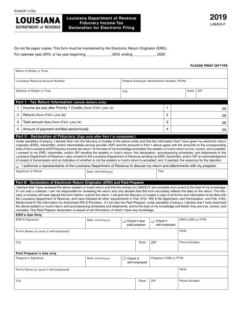 Form R-8453F 2019 Printable Pdf