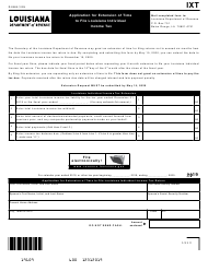 "Form R-2868 ""Application for Extension of Time to File Louisiana Individual Income Tax"" - Louisiana"