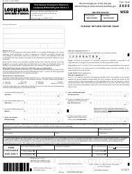 "Form L-1 (R-1201) ""First Quarter Employer's Return of Louisiana Withholding Tax Form"" - Louisiana, 2020"
