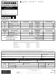 "Form R-9005 (T-1S) ""Timber-Parish Summary Return"" - Louisiana"