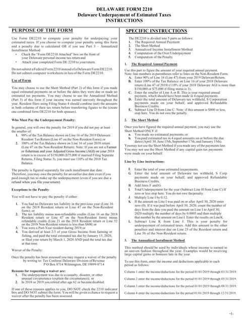 Form DE2210  Printable Pdf