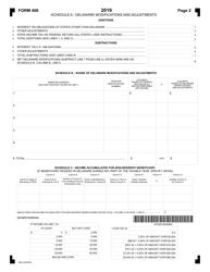 """Form 400 """"Delaware Fiduciary Income Tax Return"""" - Delaware, Page 2"""