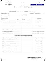 "Form 400 Schedule K-1 ""Beneficiary's Information"" - Delaware, 2019"