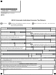 "Form DR0104 ""Colorado Individual Income Tax Return"" - Colorado, 2019"