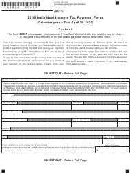 "Form DR0900 ""Individual Income Tax Payment Form"" - Colorado, 2019"