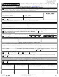 "VA Form 22-5495 ""Dependents' Request for Change of Program or Place of Training (Under Provisions of Chapters 33 and 35, Title 38, U.s.c.)"""