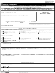 "VA Form 22-1995 ""Request for Change of Program or Place of Training"""