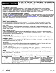"VA Form 10-10CG ""Application for Comprehensive Assistance for Family Caregivers Program"""