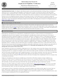 "Instructions for USCIS Form I-9 ""Employment Eligibility Verification"""