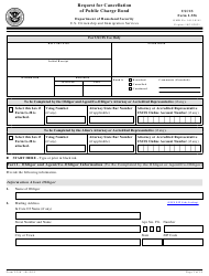 """USCIS Form I-356 """"Request for Cancellation of Public Charge Bond"""""""