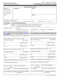 """USCIS Form I-730 """"Refugee/Asylee Relative Petition"""""""