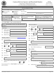 """USCIS Form I-864A """"Contract Between Sponsor and Household Member"""""""