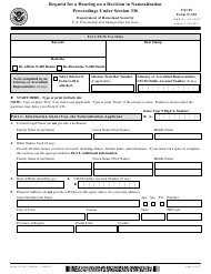 """USCIS Form N-336 """"Request for a Hearing on a Decision in Naturalization Proceedings Under Section 336"""""""