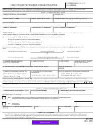 """Form AD-1043 """"Leave Transfer Program - Donor Application"""""""